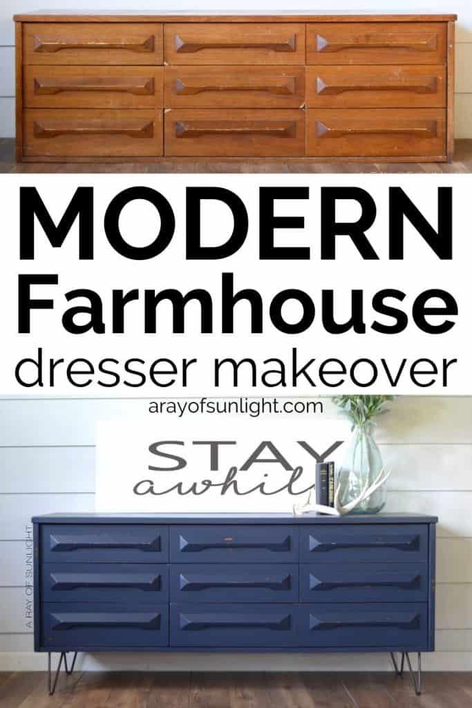 Modern Farmhouse dresser makeover