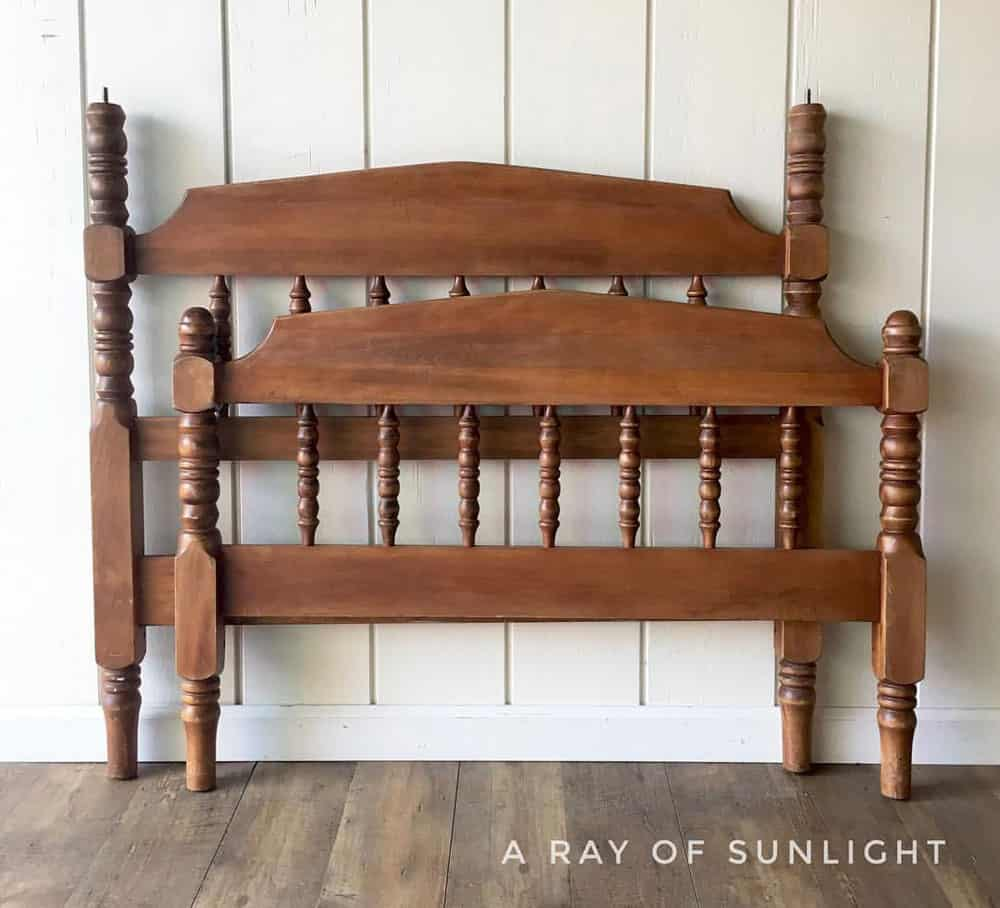 DIY Twin headboard bench