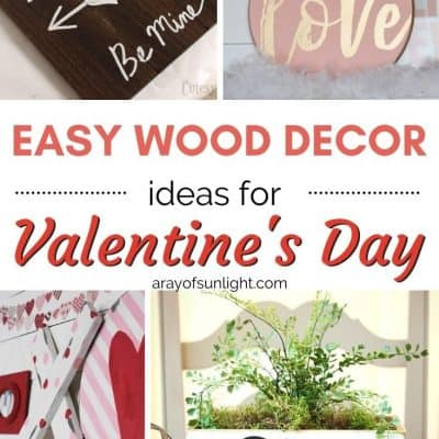 wood decor ideas for valentines day
