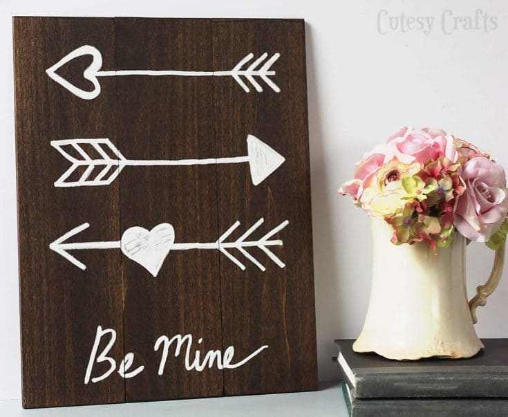 This DIY Valentine's Day Arrow Art is So Easy to Make!