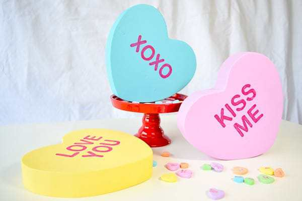DIY Giant Conversation Hearts