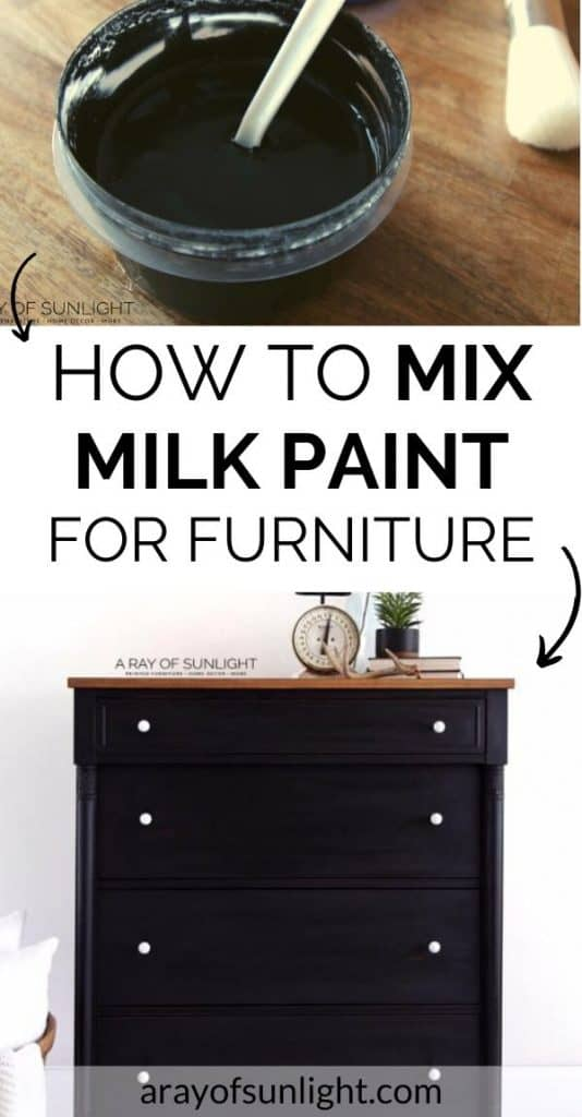 how to mix milk paint for furniture