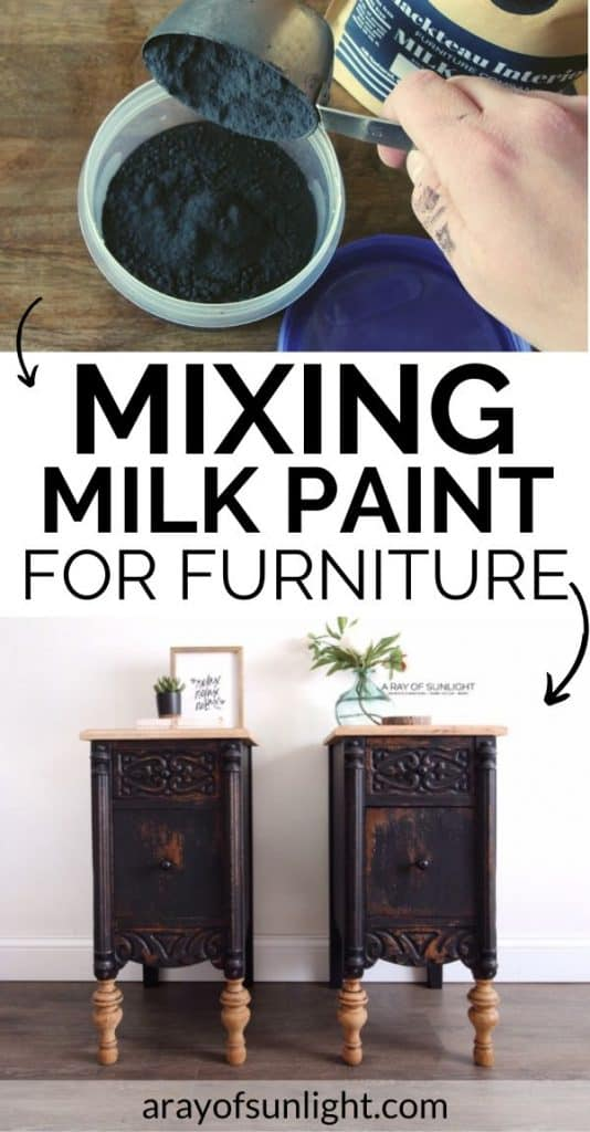 mixing milk paint for furniture