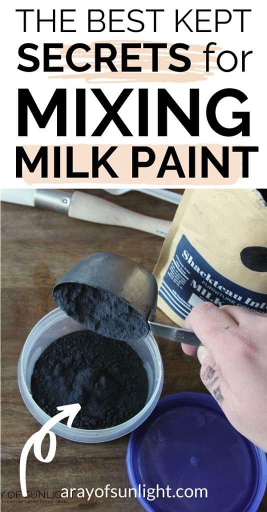 the best kept secrets for mixing milk paint
