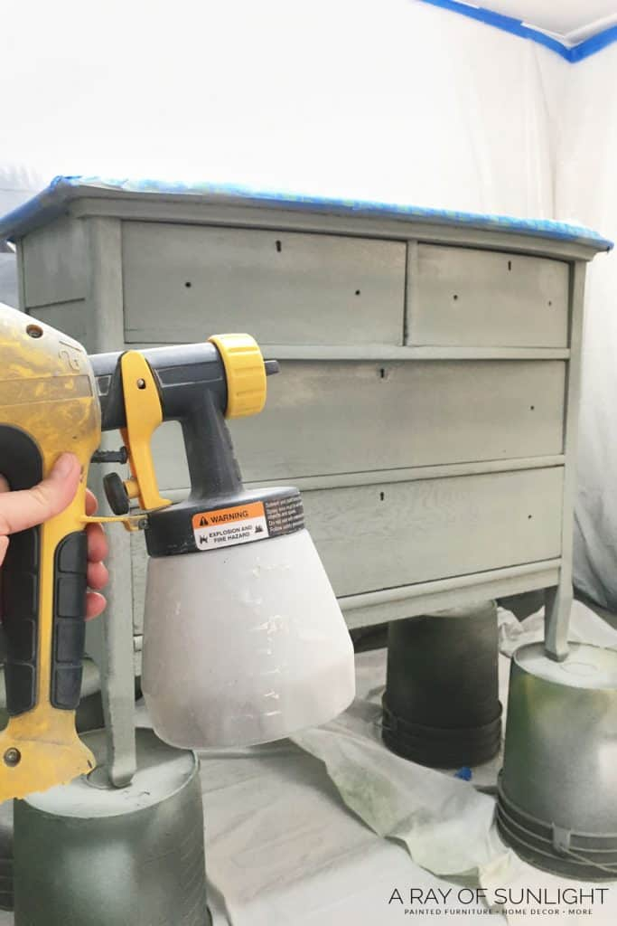 using wagner paint sprayer on furniture