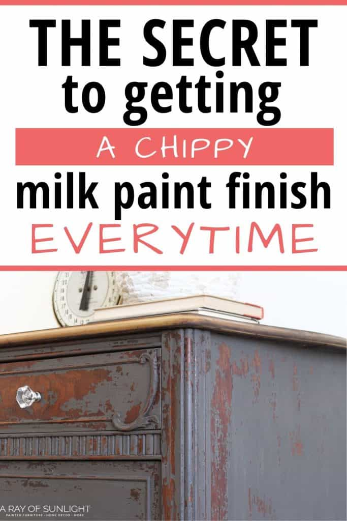 chippy paint finish with milk paint