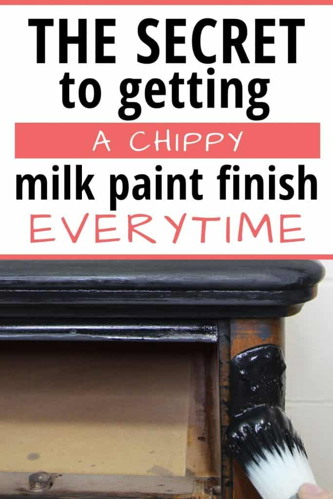 Get a chippy milk paint finish
