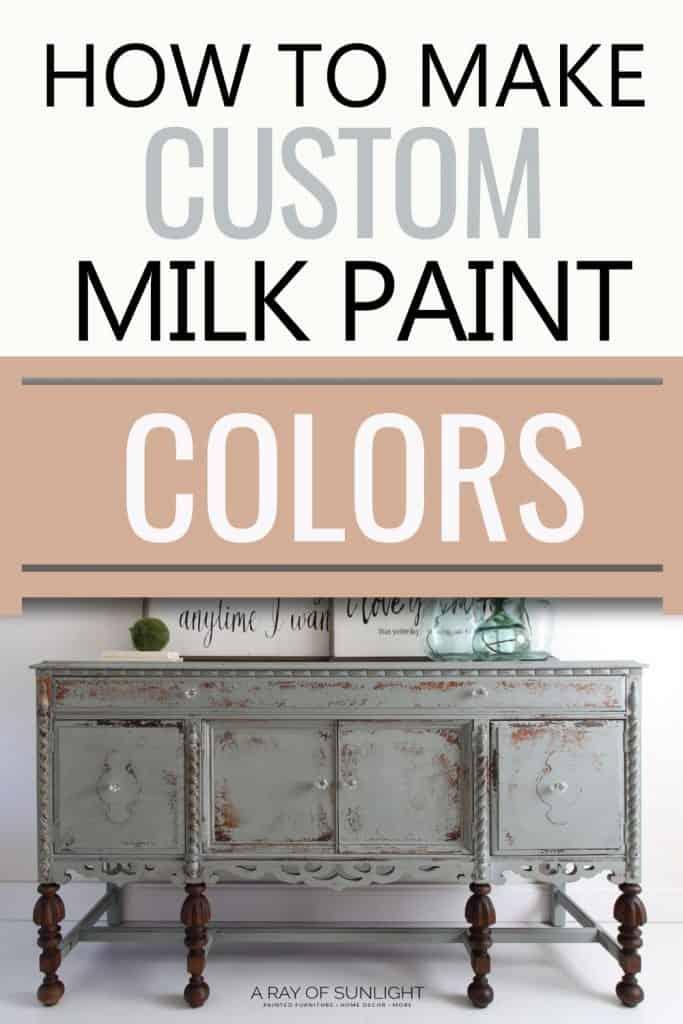 make custom milk paint colors
