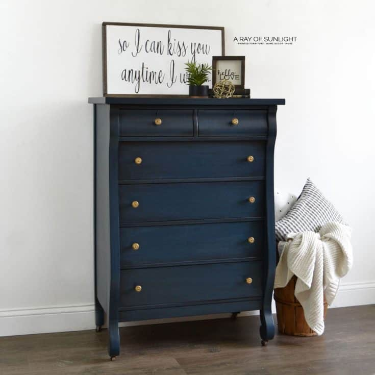How to Paint a Dreamy Blue Dresser