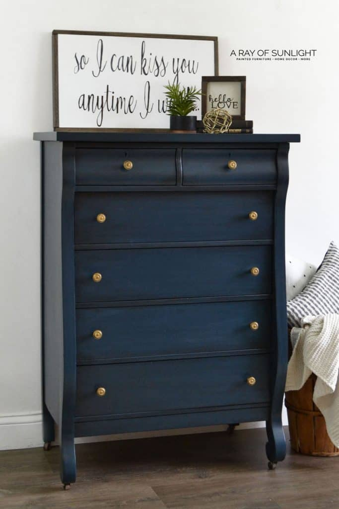Blue Painted Dresser