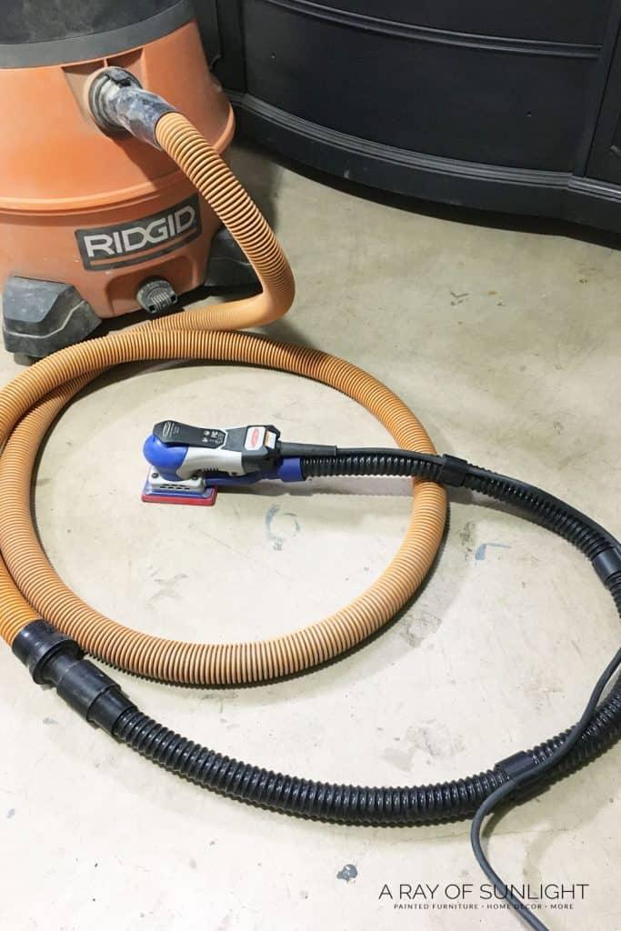 surfprep sander with shop vacuum flex hose attachment