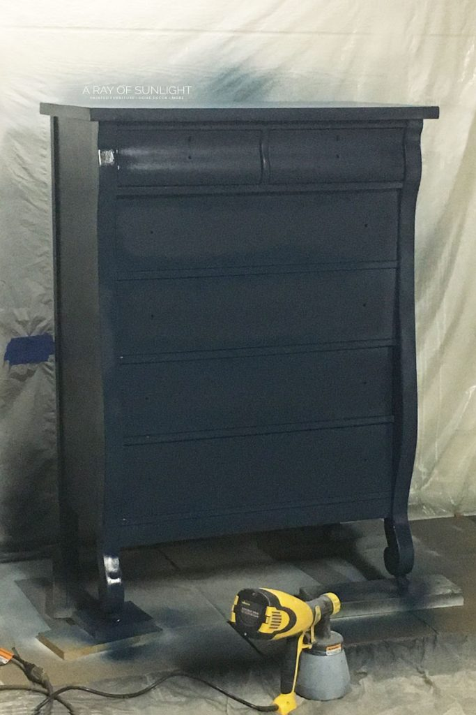 navy blue tall dresser