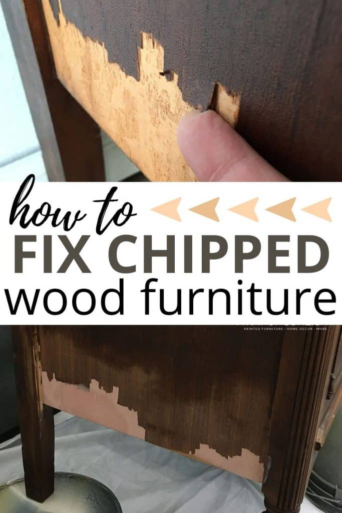 how to fix chipped wood furniture