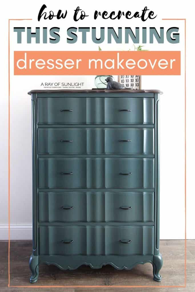 teal blue tall french dresser