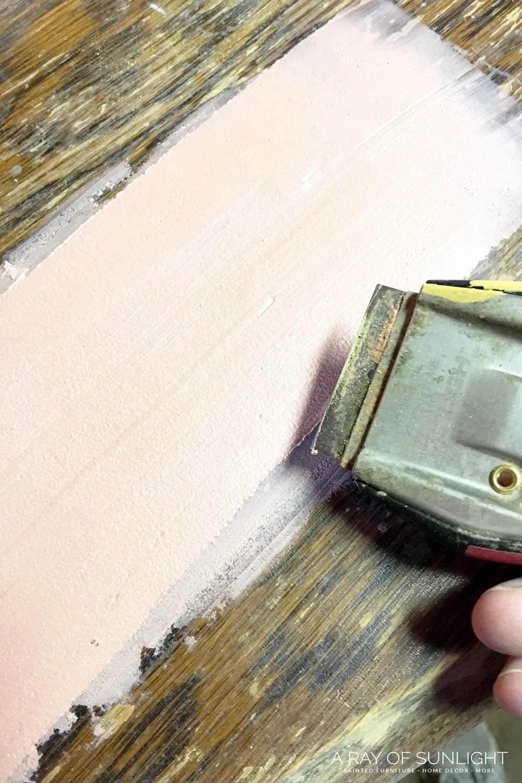 wood veneer bubble repair