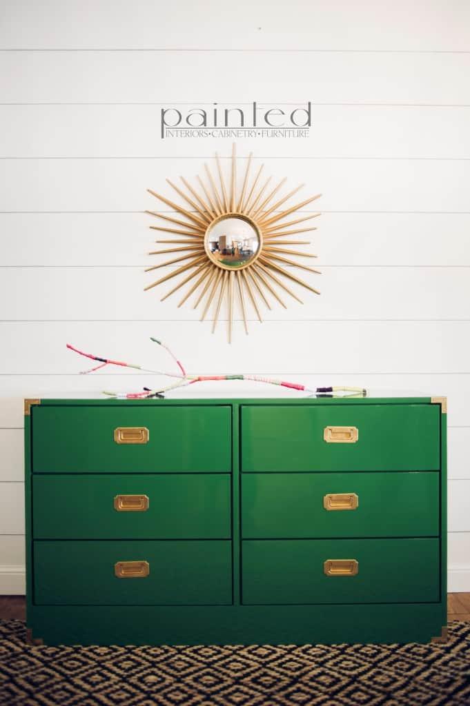 Glossy Green Campaign Dresser