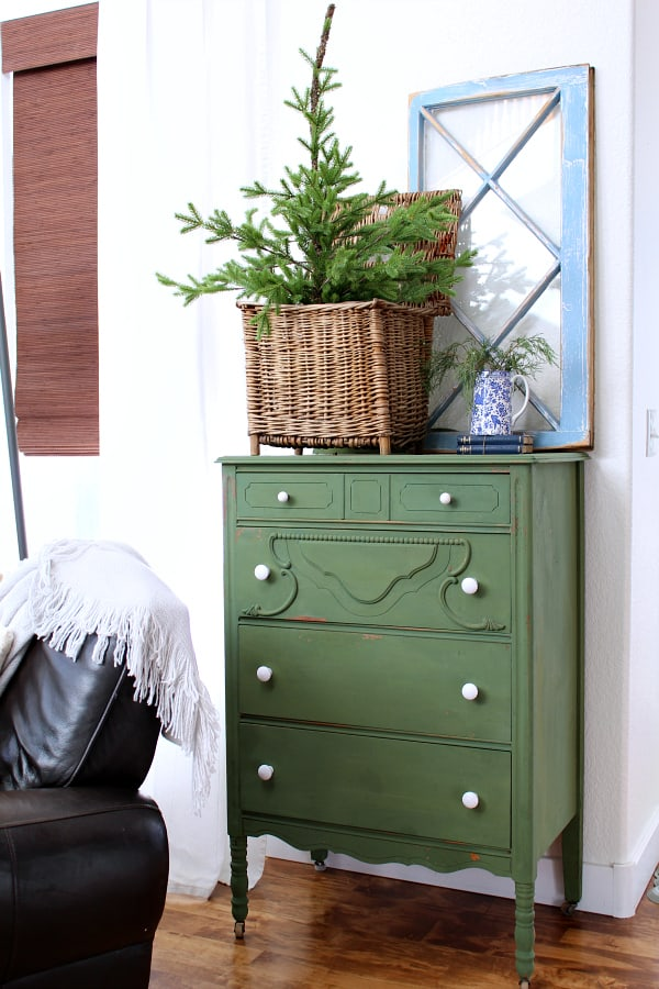 My Favorite Boxwood Green Dresser