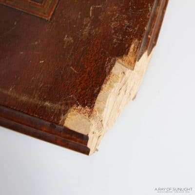 how to fix a chipped wood corner