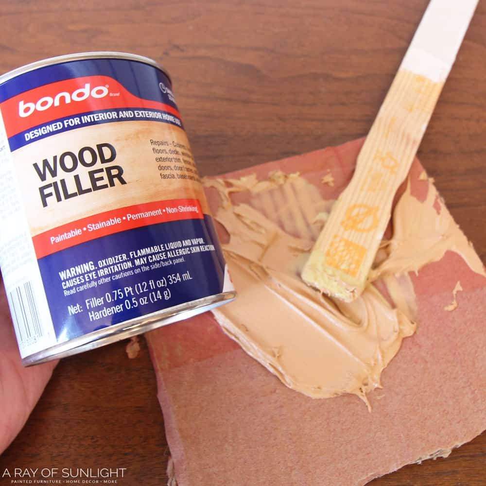 mixing bondo wood filler