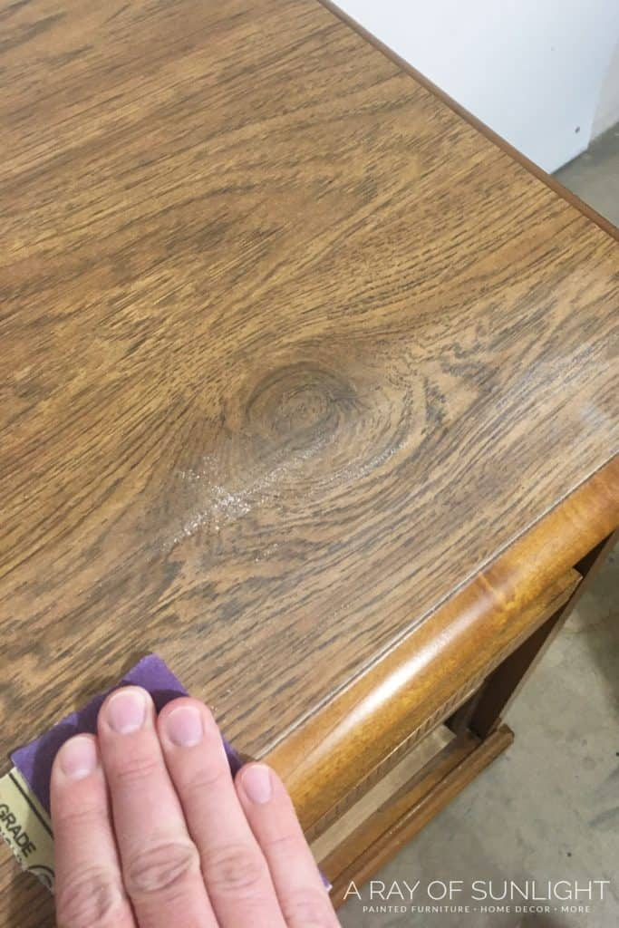 how to sand laminate furniture for paint
