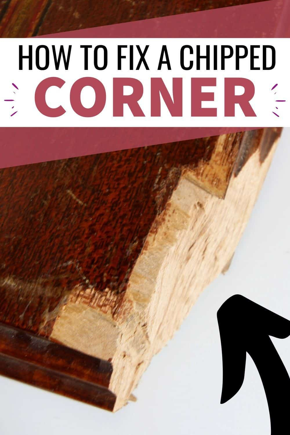 how to repair a chipped wood corner