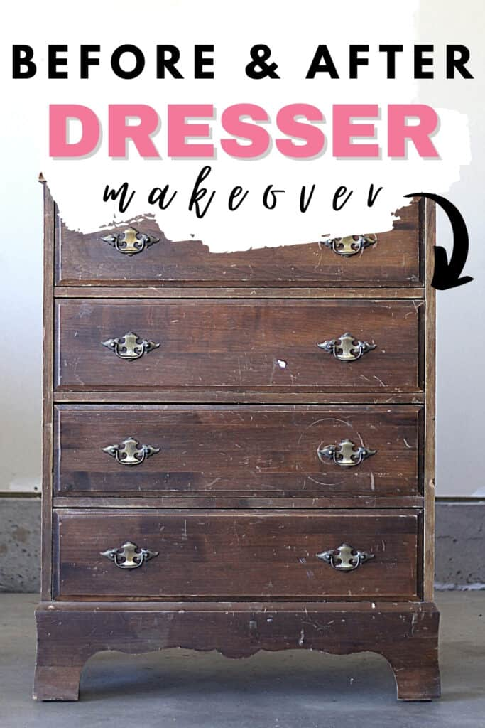 """Before and After Dresser Makeover"""
