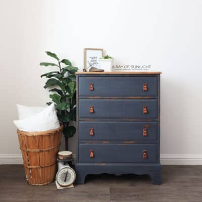 Navy Blue DIY Dresser Makeover