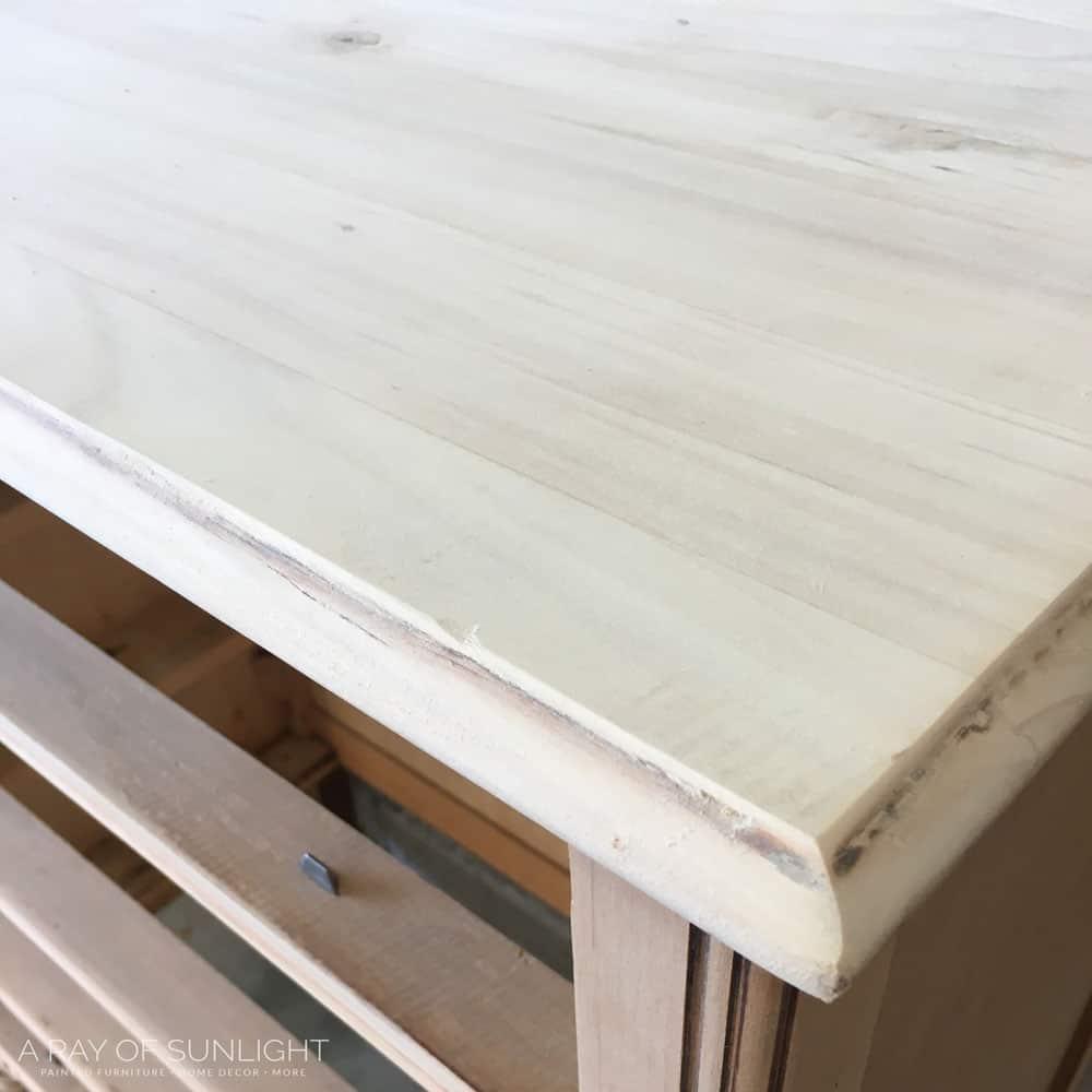 wood under veneer sanded smooth