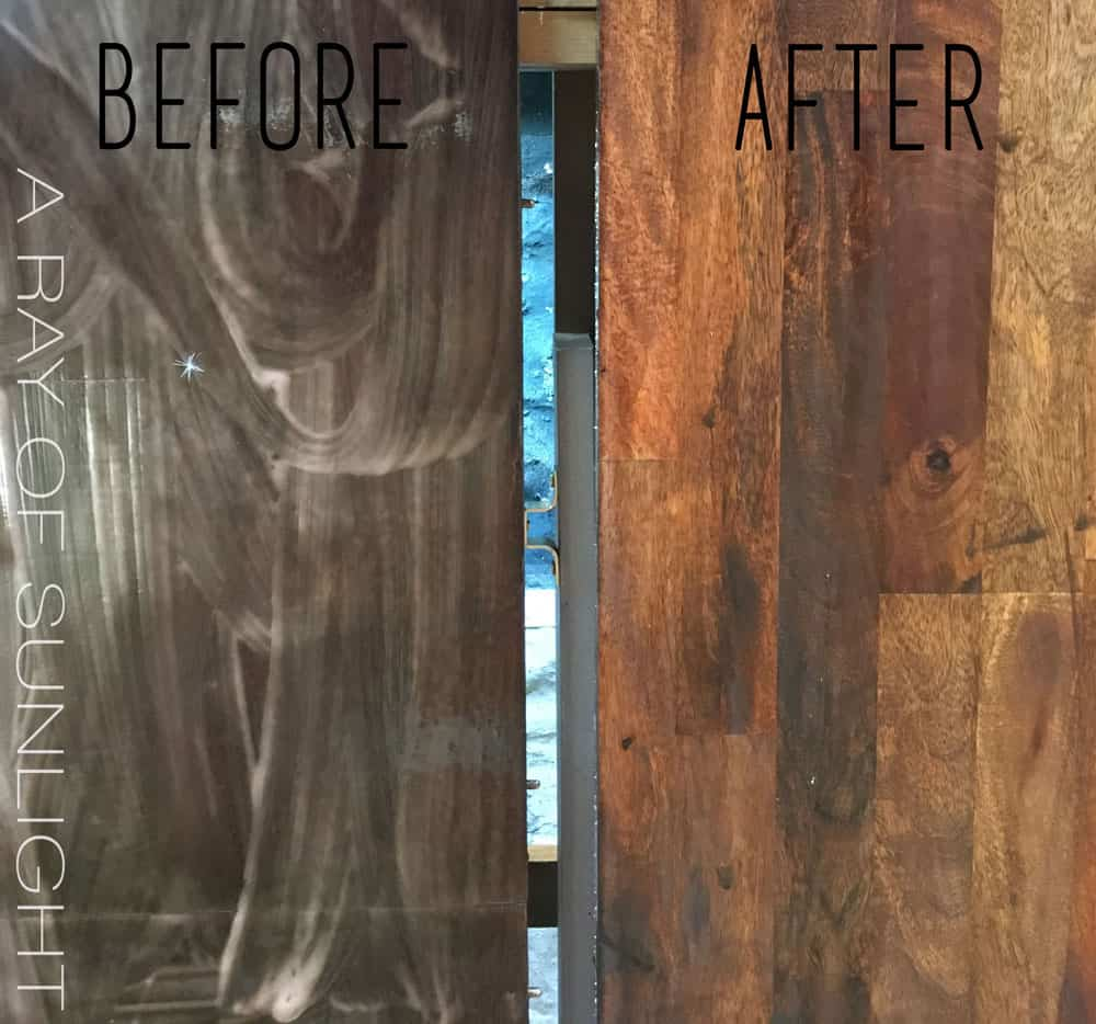 Before and After how to strip a kitchen table