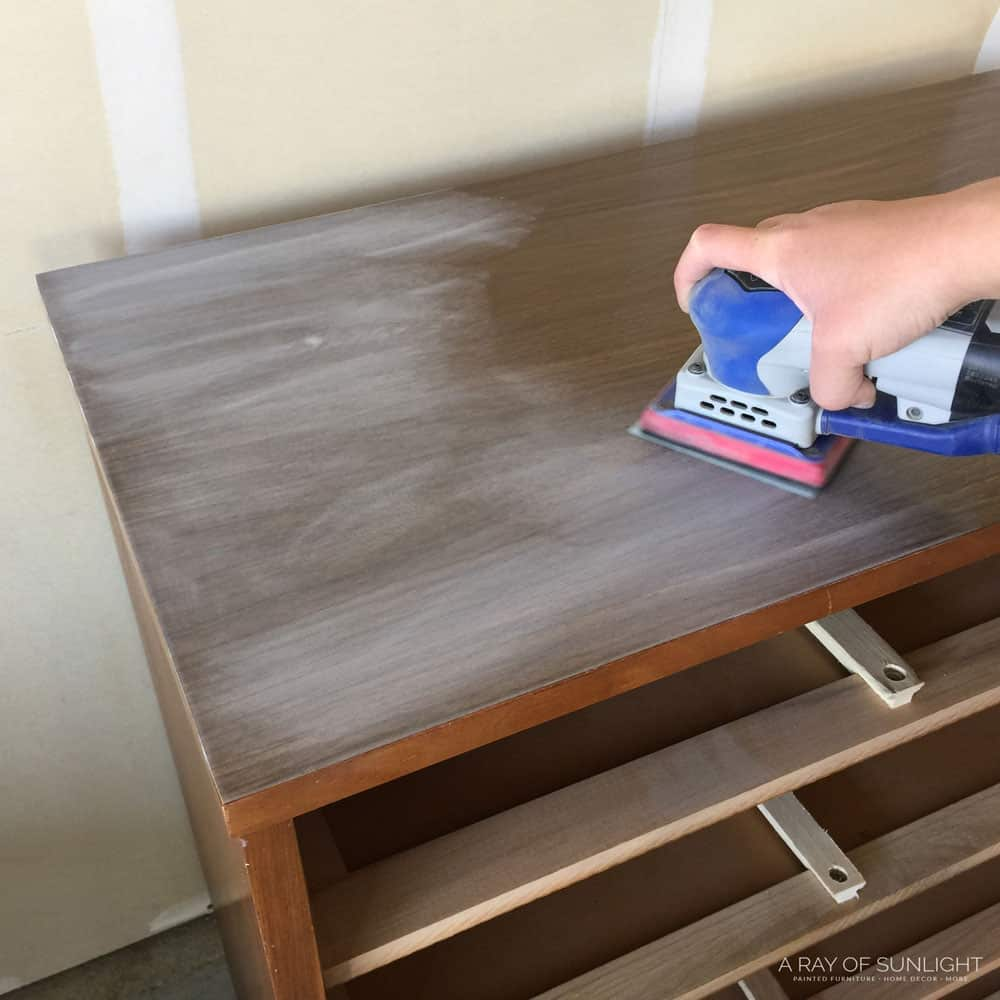 Sanding laminate top for paint