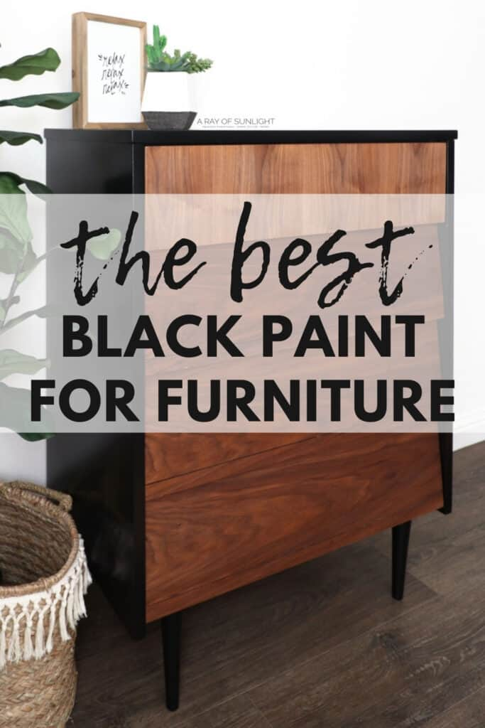 """the best black paint for furniture"""