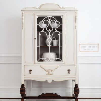 Antique China Hutch Makeover   Step By Step