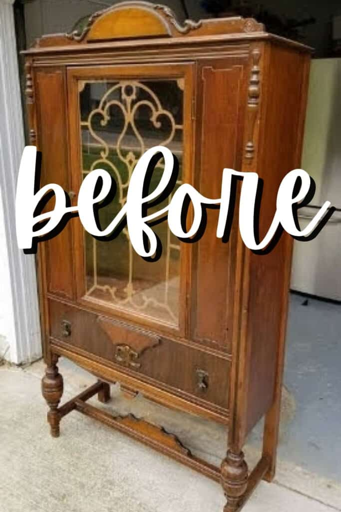 jacobean china cabinet before