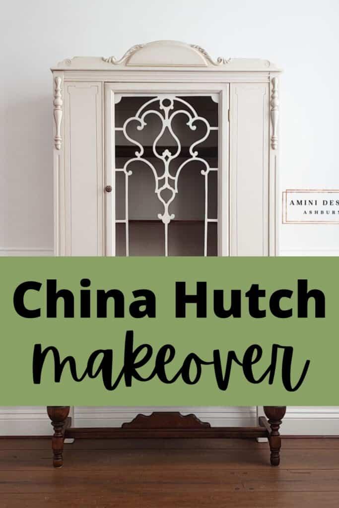 """china hutch makeover"""
