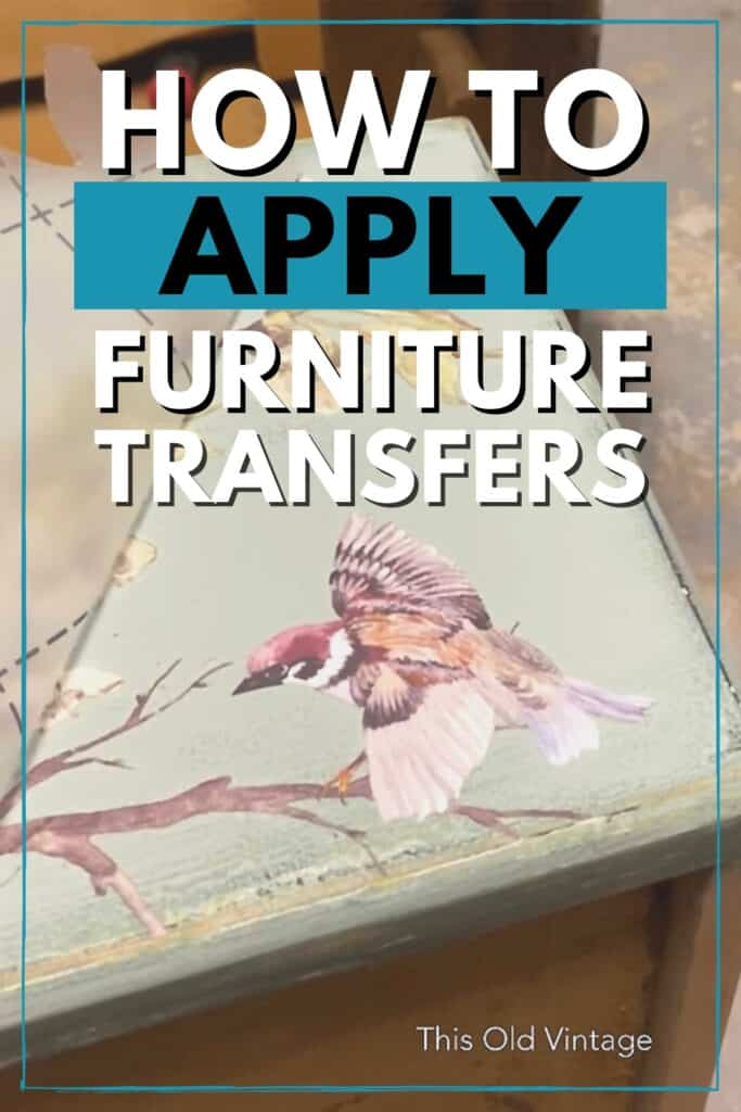 """how to apply furniture transfers"""