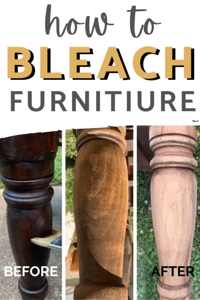 """""""how to bleach furniture"""" before and after"""