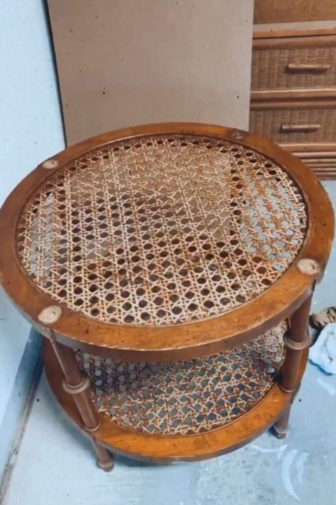 before - rattan needs refinished