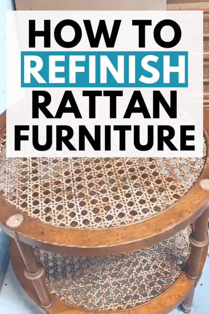 """how to refinish rattan furniture"""