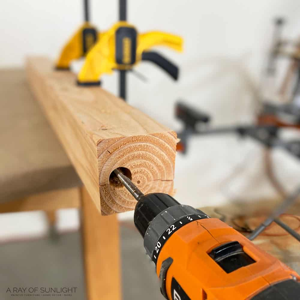 drill hole for chimney candle holders