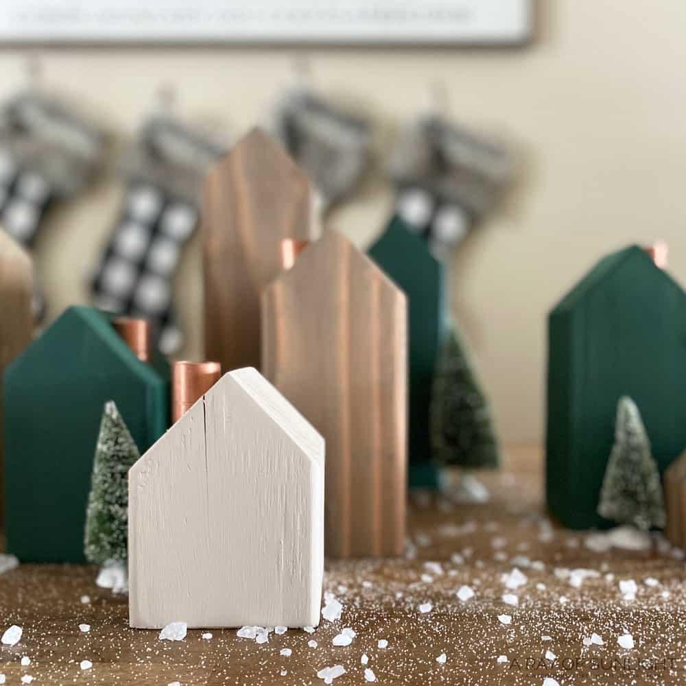 diy wood Christmas vilage