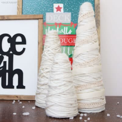 diy foam cone Christmas trees