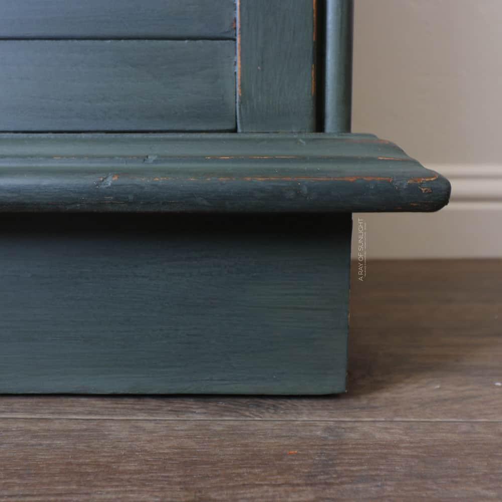 repaired veneer and painted