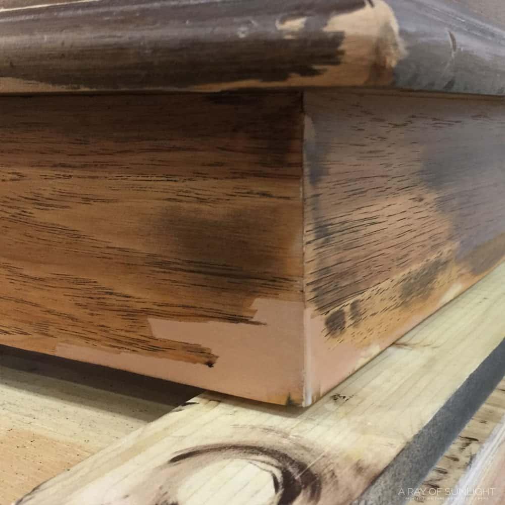 Sanded down Bondo Wood Filler