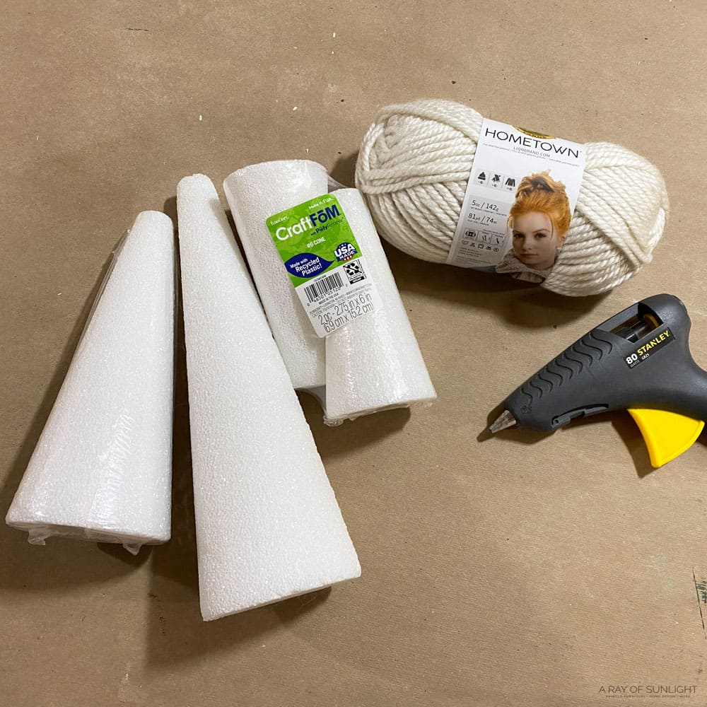 supplies for foam Christmas trees