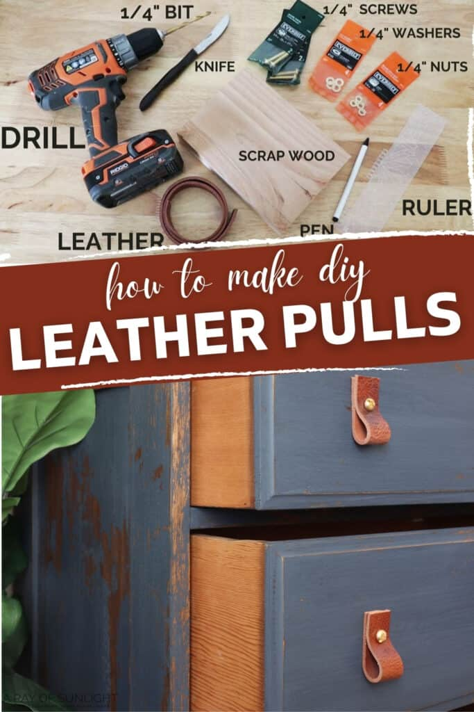 how to make diy leather pulls