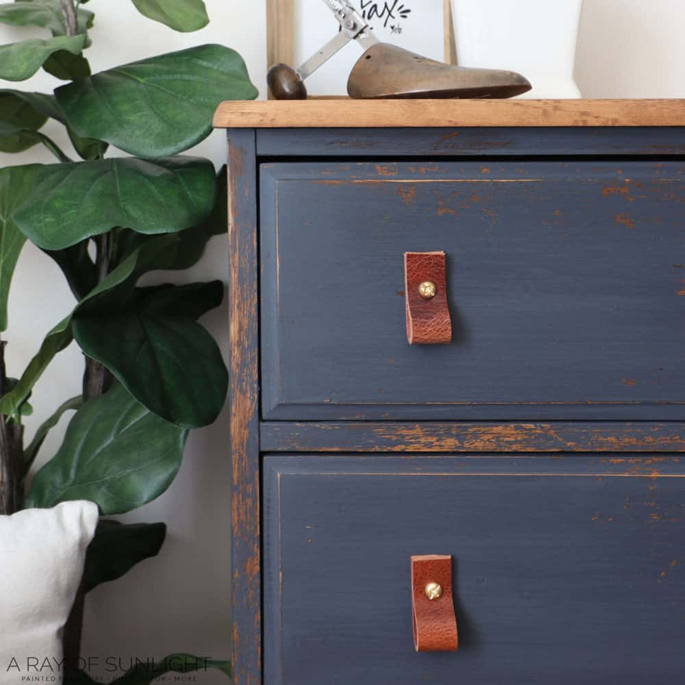 diy leather drawer pulls on dresser