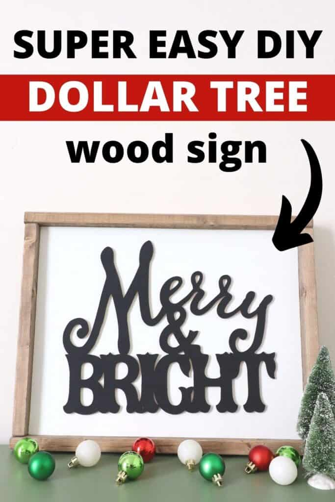 super easy diy dollar tree wood sign