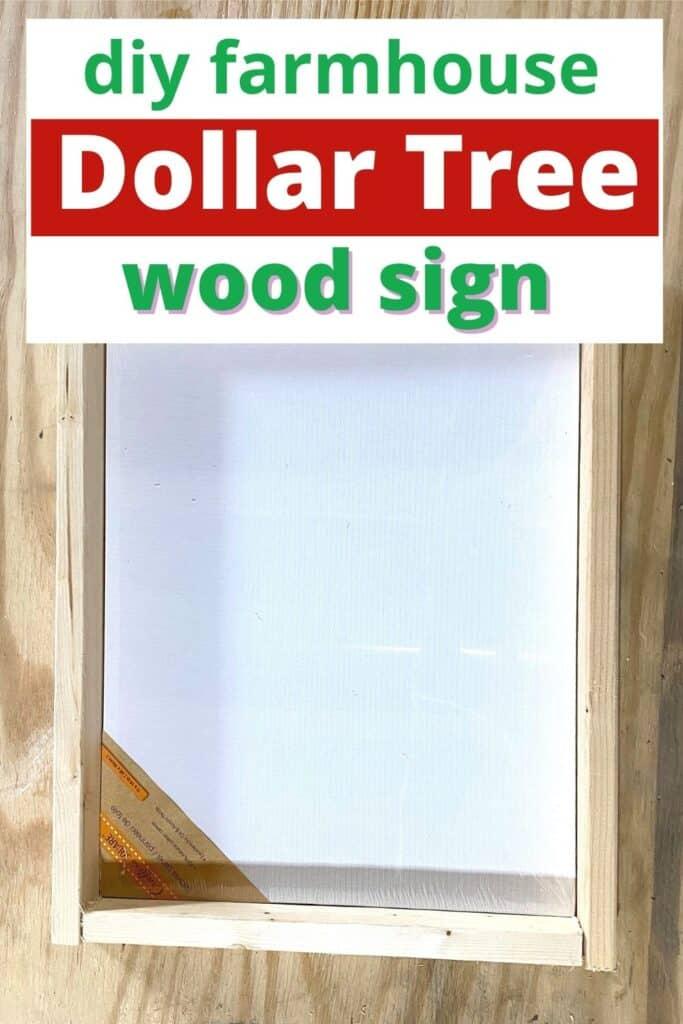 diy farmhouse dollar tree wood sign