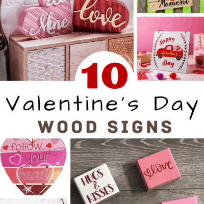 10 valentines day wood signs