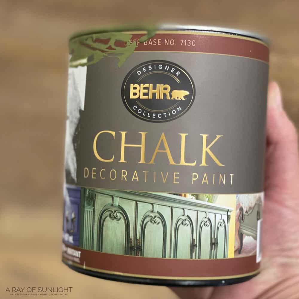quart size Behr chalk decorative paint